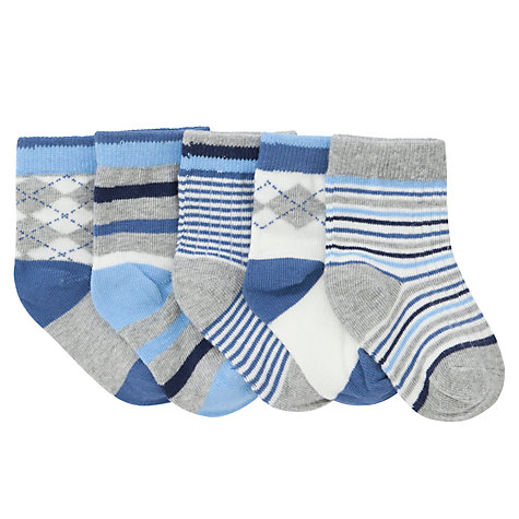 Buy John Lewis Argyle Socks, Pack of 5, Multi Online at johnlewis.com