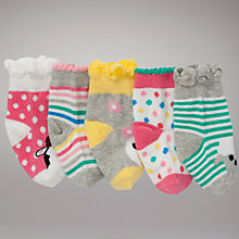 Buy John Lewis Farm Animal Socks, Pack of 5, Multi Online at johnlewis.com