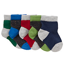 Buy John Lewis Neppy Socks, Pack of 5, Blue/Green/Grey Online at johnlewis.com