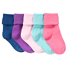 Buy John Lewis Roll Top Socks, Pack of 5, Multi Online at johnlewis.com