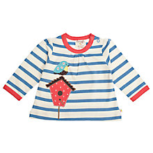Buy Frugi Baby Organic Cotton Birdhouse Top, Blue Online at johnlewis.com