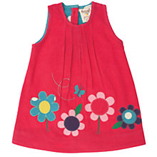 Buy Frugi Baby Organic Cotton Corduroy Flower Dress, Red Online at johnlewis.com