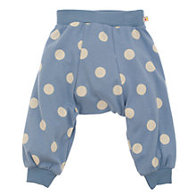 Buy Frugi Baby Organic Cotton Polka Dot Parsnip Pants, Blue Online at johnlewis.com