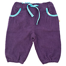 Buy Frugi Baby Organic Cotton Corduroy Trousers, Plum Online at johnlewis.com