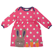 Buy Frugi Baby Rosy Rabbit Dress, Raspberry Online at johnlewis.com