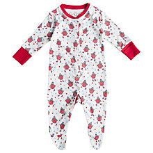 Buy Frugi Robin Babygrow, Cream/Red Online at johnlewis.com