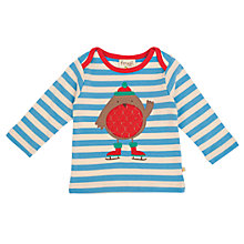Buy Frugi Robin Striped Top, Blue/Red Online at johnlewis.com