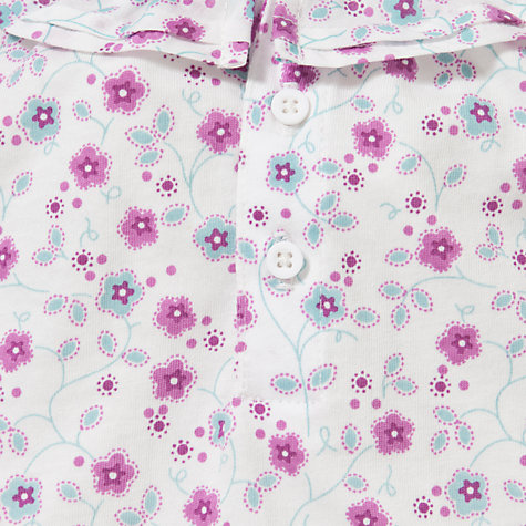Buy John Lewis Baby Floral Frill Top, Pink/Multi Online at johnlewis.com