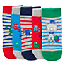 John Lewis Dragon/Stripe Socks, Pack of 5, Multi