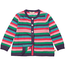 Buy Frugi Baby Organic Cotton Stripe Cardigan, Multi Online at johnlewis.com
