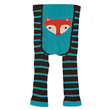 Buy Frugi Baby Fox Stripe Footless Leggings, Multi Online at johnlewis.com