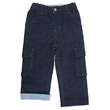 Buy Frugi Baby Organic Cotton Combat Trousers, Blue Online at johnlewis.com