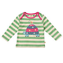 Buy Frugi Baby Tortoise Top, Green Online at johnlewis.com
