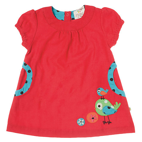 Buy Frugi Bird Dress, Red Online at johnlewis.com