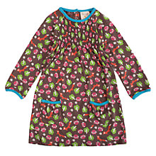 Buy Frugi Baby Woodland Friends Smock Dress, Brown Online at johnlewis.com
