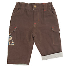 Buy Frugi Baby Organic Cotton Raccoon Corduroy Combat Trousers, Brown Online at johnlewis.com
