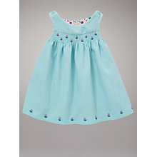 Buy John Lewis Baby Rose Buds Corduroy Dress, Blue Online at johnlewis.com
