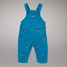 Buy John Lewis Baby Corduroy Moose Dungarees, Blue Online at johnlewis.com