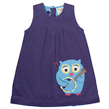 Buy Frugi Baby Organic Cotton Corduroy Owl Dress, Purple Online at johnlewis.com