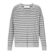 Buy Collection WEEKEND Cashmere Striped Jumper, Grey/Charcoal Online at johnlewis.com