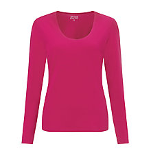Buy John Lewis Scoop Neck Double Layer Top Online at johnlewis.com