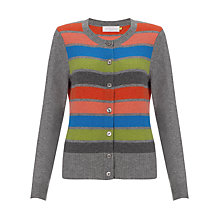 Buy Collection WEEKEND by John Lewis Maggie Cashmere Stripe Cardigan, Multi Online at johnlewis.com