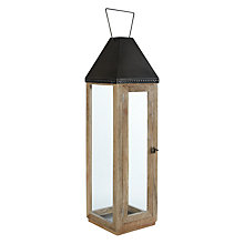 Buy John Lewis Wood and Metal Lantern Online at johnlewis.com