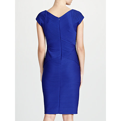 Buy Gina Bacconi Pintuck Dress, Sapphire Online at johnlewis.com