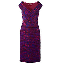 Buy Gina Bacconi Printed Bandage Dress, Cranberry Online at johnlewis.com