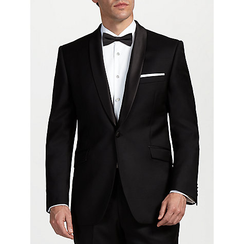 Buy John Lewis Shawl Wool Tailored Fit Dress Suit Jacket, Black Online at johnlewis.com