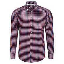 Buy Gant Indigo Plaid Casual Fit Shirt Online at johnlewis.com
