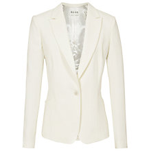 Buy Reiss Curved Seam Jacket, Off White Online at johnlewis.com