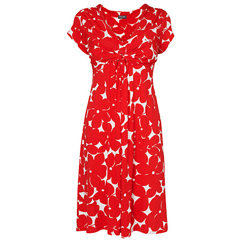 Buy Phase Eight Martha Print Dress, Poppy/Ivory Online at johnlewis.com