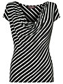 Buy Phase Eight Striped T-Shirt, Black/White, 14 Online at johnlewis.com
