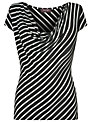 Phase Eight Striped T-Shirt, Black/White
