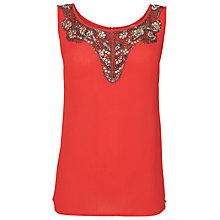 Buy Phase Eight Kylie Top, Coral Online at johnlewis.com