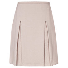 Buy Reiss Textured Pleated Skirt, Blush Online at johnlewis.com