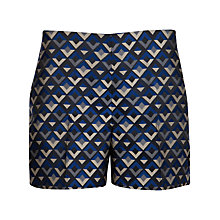 Buy Ted Baker Casltas Geo Jacquard Shorts, Purple Online at johnlewis.com
