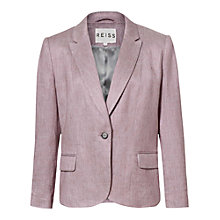 Buy Reiss Relaxed Fit Jacket, Pearl Pink Online at johnlewis.com