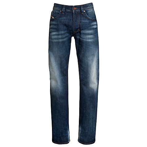Buy Diesel Larkee Regular Straight Jeans 813T, Blue Online at johnlewis.com