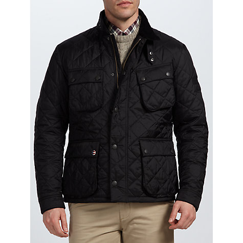 Buy Barbour Steve McQueen™ Collection Quilted Bariel Jacket, Black Online at johnlewis.com