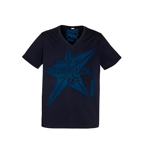 Buy Diesel T-Echinacea Graphic Print Short Sleeve T-Shirt Online at johnlewis.com