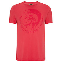 Buy Diesel T-Achel Mohawk Logo T-Shirt Online at johnlewis.com