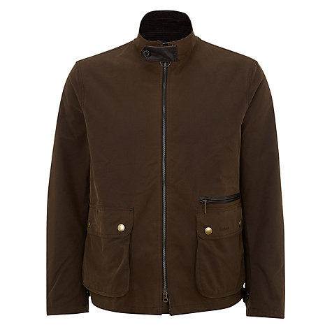 Buy Barbour Nixon Wax Jacket, Brown Online at johnlewis.com