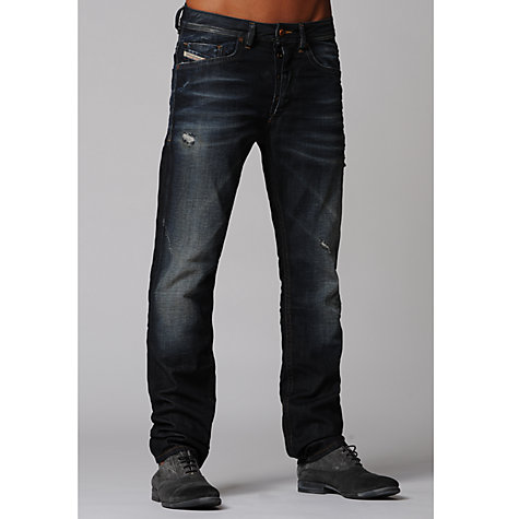 Buy Diesel Braddom Faded Straight Leg Jeans Online at johnlewis.com