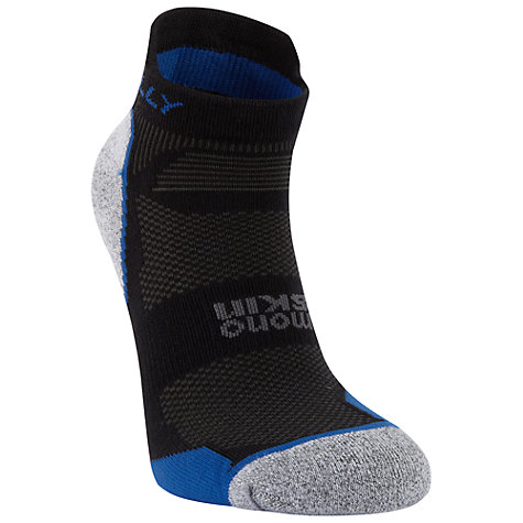 Buy Hilly Monoskin Supreme Anklet Socks, Black/Charcoal/Blue Online at johnlewis.com