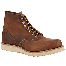 Buy Red Wing 9111 Lace Up 6-Inch Leather Boots, Copper Online at johnlewis.com