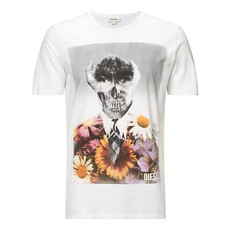 Buy Diesel Hand Skull Graphic Print T-Shirt Online at johnlewis.com