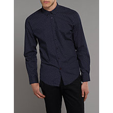 Buy Merc Siegel Spot Print Long Sleeve Shirt Online at johnlewis.com