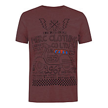Buy Merc Dwyer Scooter T-Shirt, Wine Online at johnlewis.com